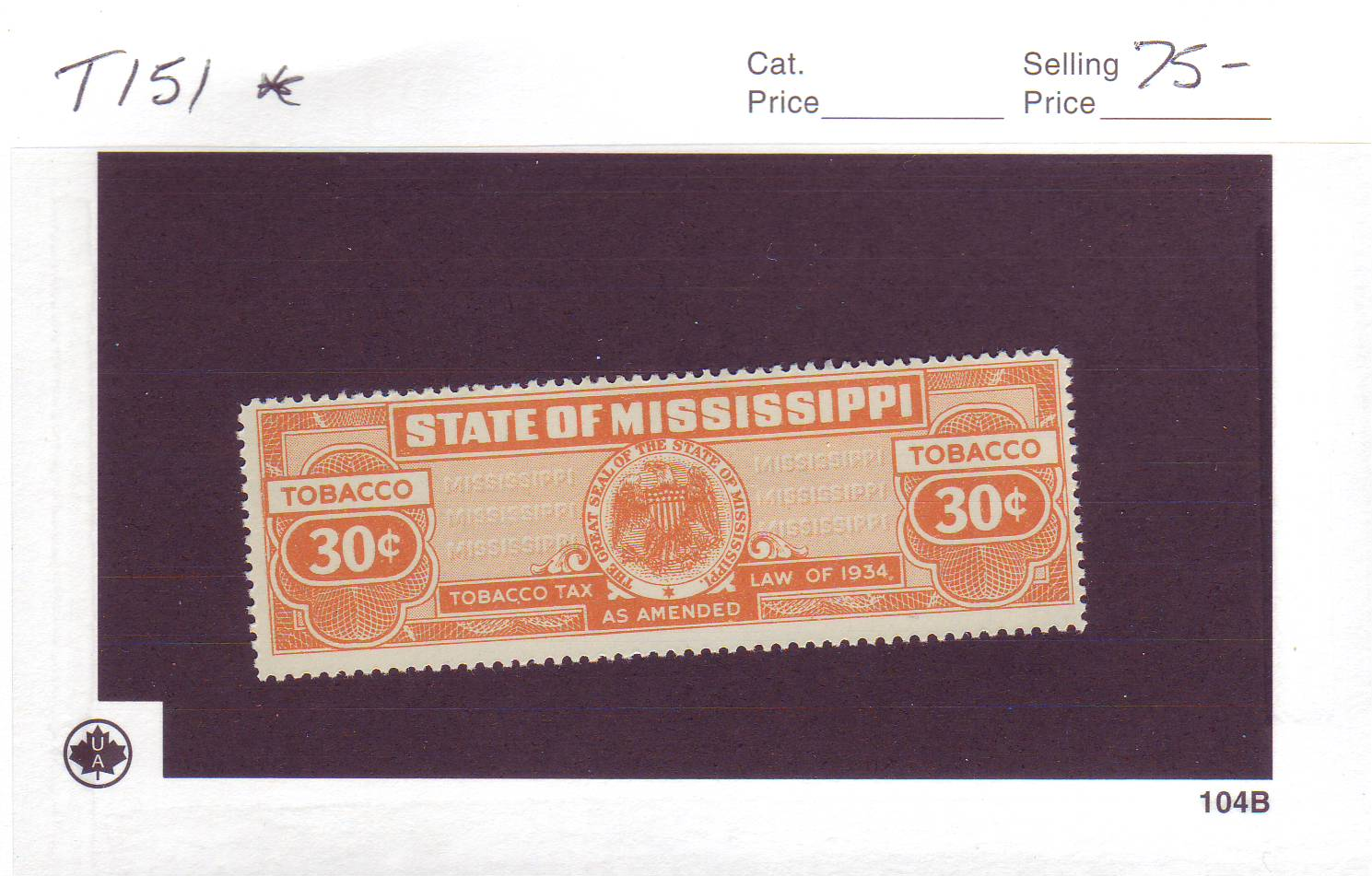 tobacco tax stamps
