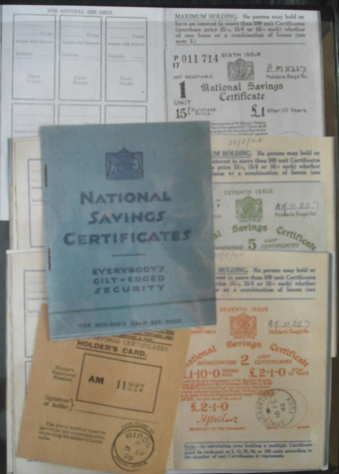 Covers worldwide postal history britain 1937 thru 1942 national savings certificate booklet complete 1betcityfo Choice Image